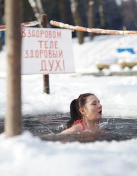 День моржа, Ирида открывает зимний сезон купание.